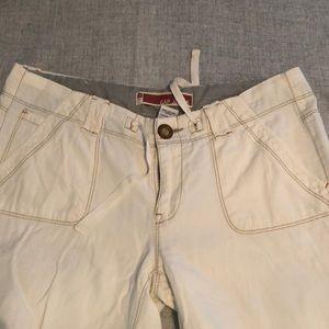 GAP Pants - Gap wide legged flared white jeans
